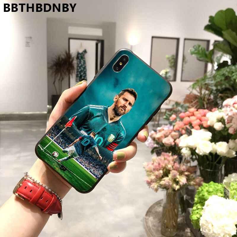 Iphone 11 メッシ coque 塗装美しい電話ケースバンパー iphone 11 プロ xs 最大 8 7 6 6 s プラス x 5 5 s 、 se xr ケース