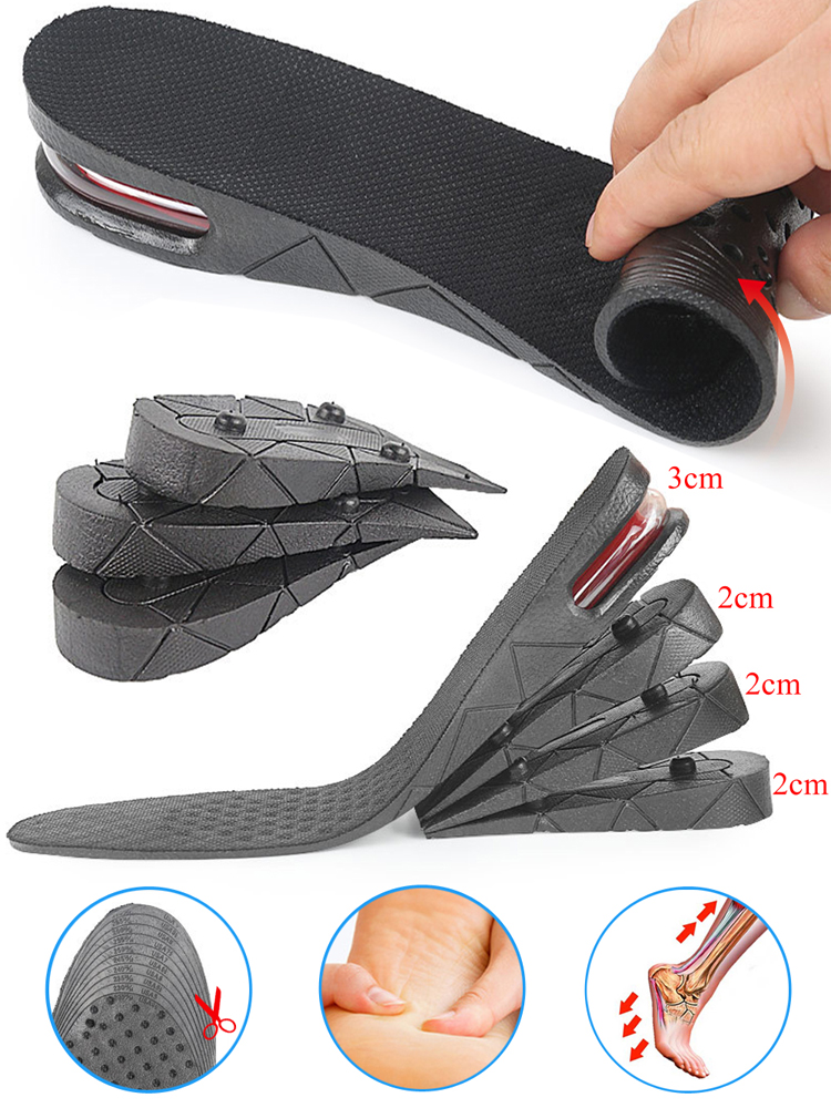 Insoles Shoe-Pads Heel-Inserts Lift Air-Cushion Height-Increase Invisible Women Adjustable