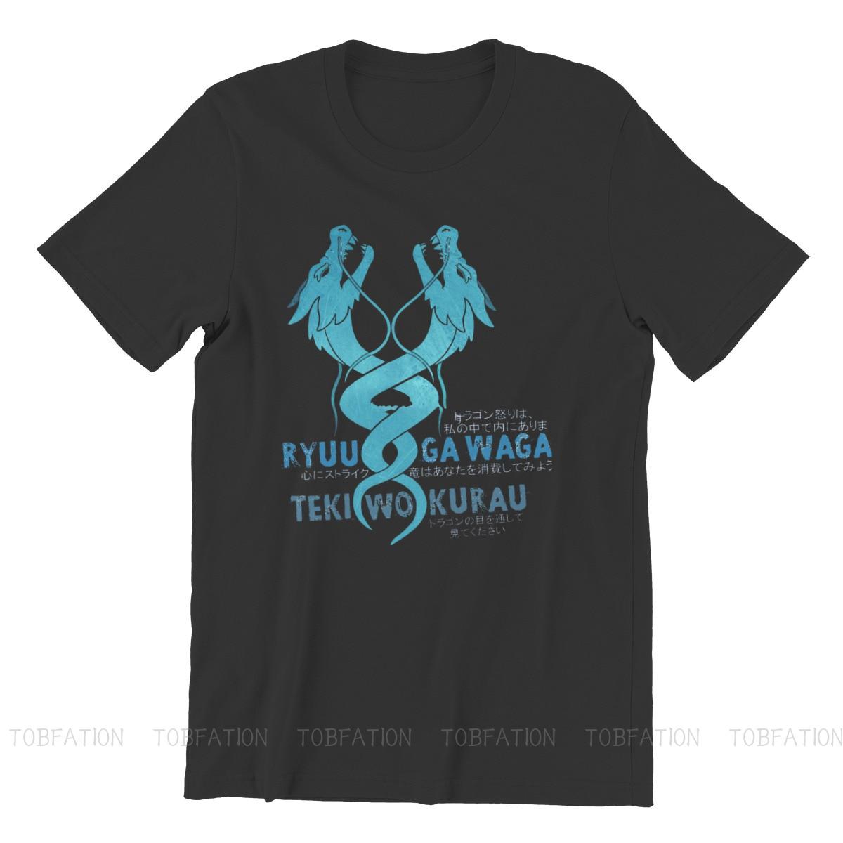 Ryuu Ga Waga Teki Wo Kurau Round Collar TShirt Overwatch Pure Cotton Basic T Shirt Man's Tops Fashion Oversized 3