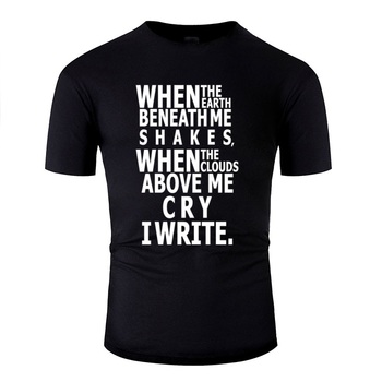 Newest Write (Black And White) T Shirt For Men 100% Cotton Mens T Shirts Round Collar Male