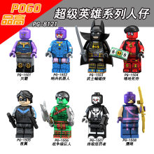 Single Marvel Legoed Figur Iron Man Black Widow Thor Hawkeye Batman Kompatibel Secara Legoedly Avengers 4 Blok Bangunan Mainan Anak(China)