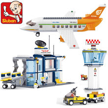 678Pcs City Aviation International Airport Airplane Model Avion Technic Building Blocks Sets Brinquedos Toys for Children(China)