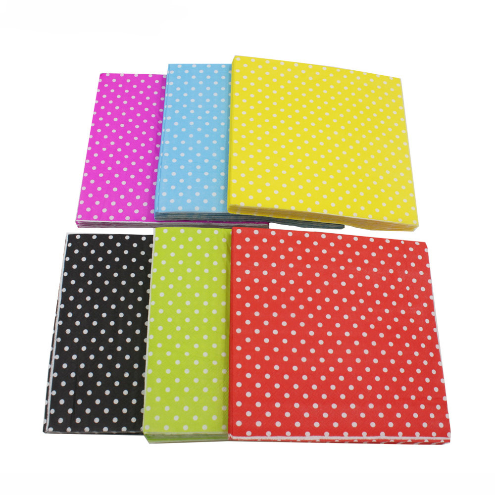 [Currently Available] Color Printed Napkin Dots Creative Tissue Napkin RUYD-10