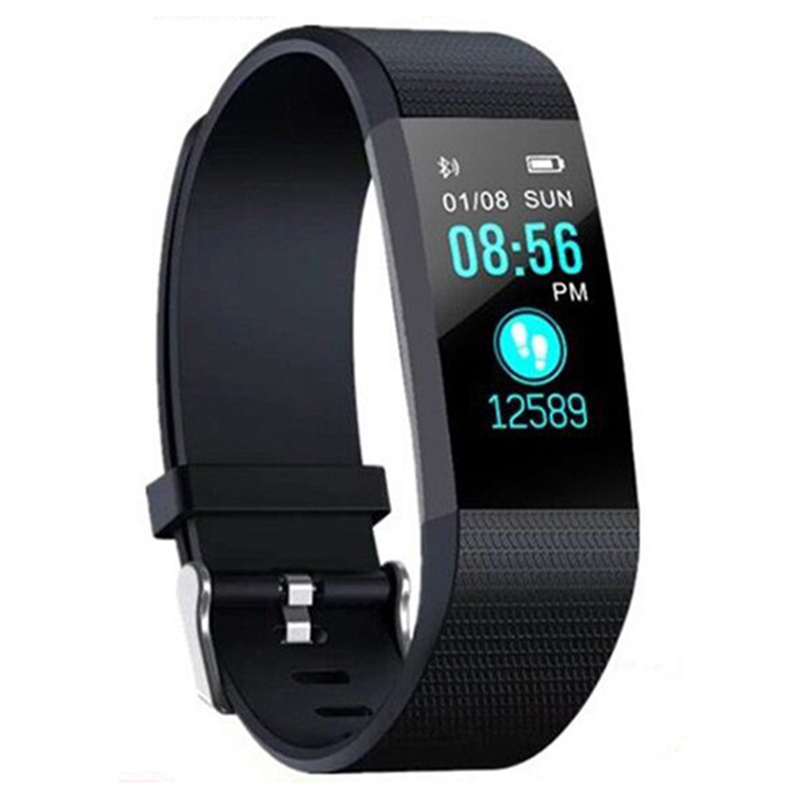 Sport Health Waterproof Fitness Smart Watch Activity Tracker Wrist Band 115 Plus Smart Band Sport Health Waterproof Pedometers 2