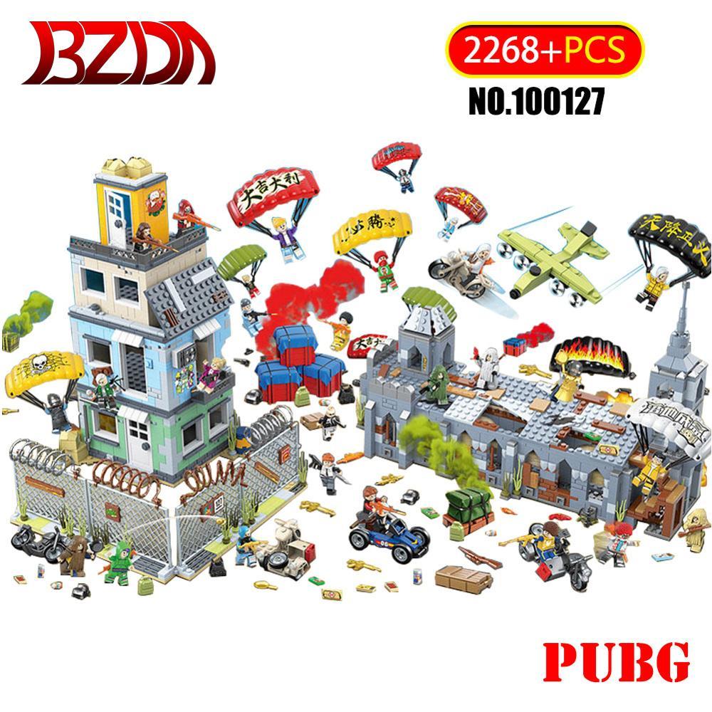 PUBG конкурентоспособные игры серии Battlefield совместимые военные Косплей здания игры 2268 шт Строительные блоки Дети DIY игрушки подарок 100127