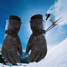 Лыжные перчатки водонепроницаемые перчатки с функцией сенсорного экрана Электрический перезаряжаемый аккумулятор питание сноуборд теплый нагретый снег перчатки