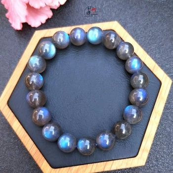 100% Natural Blue Light Labradorite Crystal Round Beads Bracelet Women 7mm 8mm 9mm 10mm 11mm Grey Moonstone Stone AAAAA certificate natural blood amber bracelet women men healing gokd amber 7mm crystal stretch round beads leaves pendant aaaaa