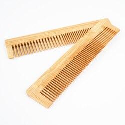1PC bambusa drewniany grzebień włosów Vent szczotki drewna pielęgnacja urody masażysta pielęgnacja włosów dla Longhair Pet Kitty Puppy Carding Fur Care