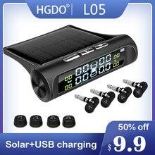 Sistema de alarme de pressão de energia solar pantalla digital carro inteligente tpms sistema