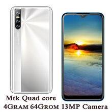 64gb rom 4gb ram 8a smartphones quad core 13mp hd face id 6.26 Polegada gota de água tela desbloqueado celular android
