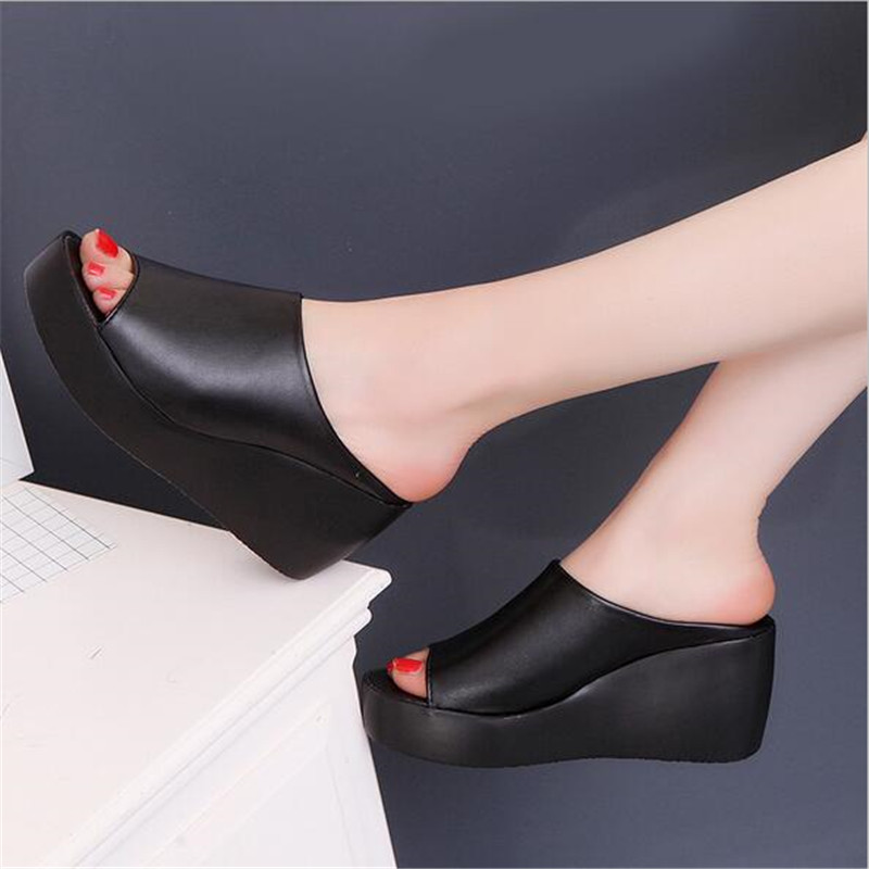 2020 New Hot Sale Women Summer Fashion Leisure Shoes Women Platform Wedges Fish Mouth Sandals Thick Bottom SlippersZH100688