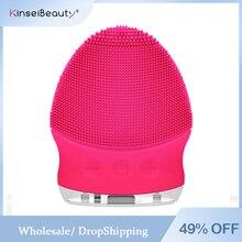 Mini cepillo de limpieza Facial eléctrico de silicona, limpiador sónico de vibración, limpieza profunda de poros, masaje de piel, cepillo Facial