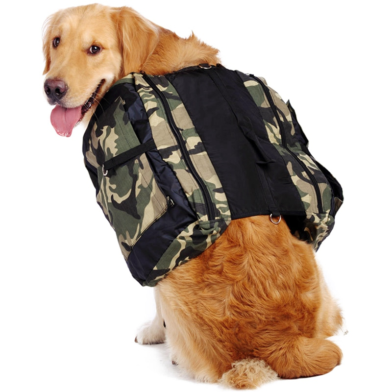 Dog Pack Hound Travel Camping Hiking Backpack Saddle Bag Rucksack With Large Capacity for Pet Dog Outdoor Travel Supplies