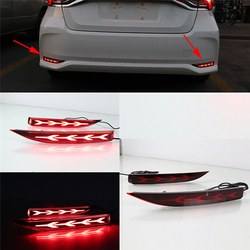 For Toyota Corolla 2019 2020 Car Rear Bumper Taillight Reflector Lamp Turn Signal Brake Light With 3 Kinds Function Red LED