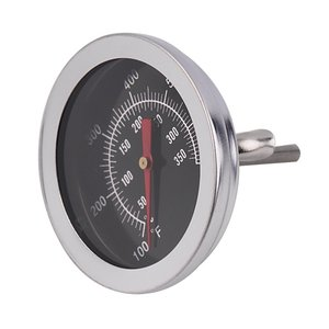 Stainless Steel BBQ Smoker Pit Grill Bimetallic thermometer Temp Gauge with Dual Gage 500 Degree Cooking Tools(China)