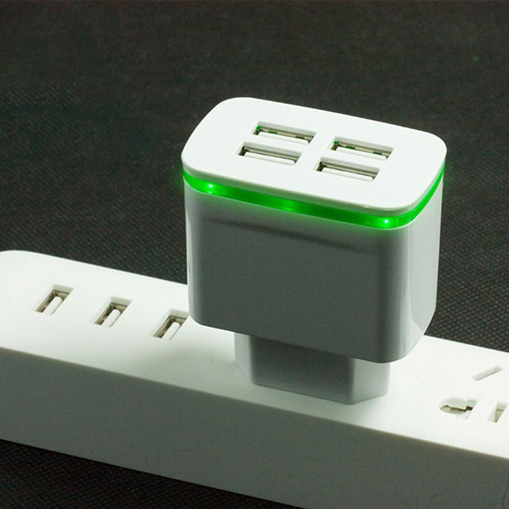 Quick Charge 5V 3A 4 <font><b>USB</b></font> Port Travel Home Wall Fast Charger <font><b>Power</b></font> <font><b>Adapter</b></font> for Phone Tablet Wall Charger US EU UK Plug Adapte image