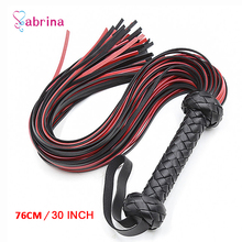 Flogger Leather Whip Spanking Paddle Couple Sex Toys for Woman Gay BDSM Bondage Bind Whip Adult Sex Slave Game SM Product Store genuine leather red heart spanking paddle wand rod whip lash strap flog slap flap beat stick sm adult game sex toy for couple