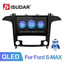 ISUDAR V72 QLED Android 10 Radio samochodowe dla forda s-max S Max 2006-2015 GPS Auto Stereo odtwarzacz multimedialny RAM 6G Octa Core nr 2 din