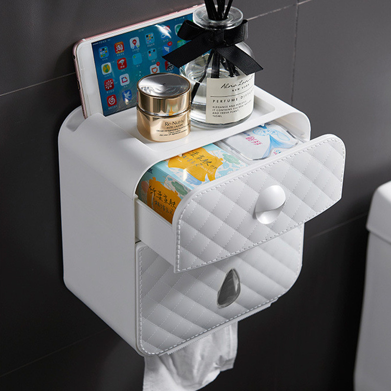 Waterproof Toilet Roll Holder Paper Box Towel Holder Wall Mounted Wc Roll Paper Stand Case Tube Storage Box Bathroom Accessories