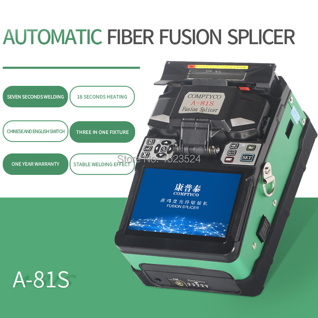 A 81S Green Automatic Fusion Splicer Machine Fiber Optic Fusion Splicer Fiber Optic Splicing Machine