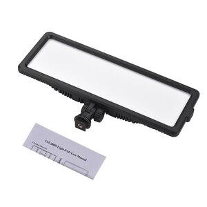 Image 3 - Andoer סופר דק LED וידאו אור לוח 3200 K 5600 K דו צבע Dimmable בהירות עם קר נעל הר עבור Canon Nikon Sony DSLR