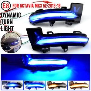 Image 1 - Voor Skoda Octavia Mk3 A7 5E Dynamische Led Richtingaanwijzer Blinker Spiegel Licht Voor Vw T Roc Troc 2014 2015 2017 2018 2019