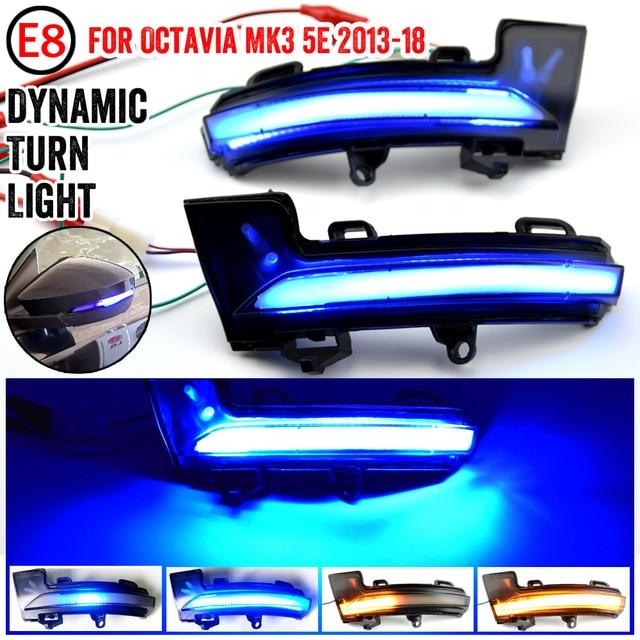 Voor Skoda Octavia Mk3 A7 5E Dynamische Led Richtingaanwijzer Blinker Spiegel Licht Voor Vw T Roc Troc 2014 2015 2017 2018 2019