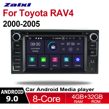 ZaiXi 4GB android 9.0 car dvd player for Toyota RAV4 2000~2005 Multimedia GPS Navigation Map Autoradio WiFI Bluetooth HD Screen image