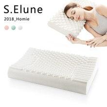 Чистый натуральный латекс Таиланд коррекционная подушка для шеи для сна защита позвонков здоровье и гигиена ортопедические постельные принадлежности Шейная подушка