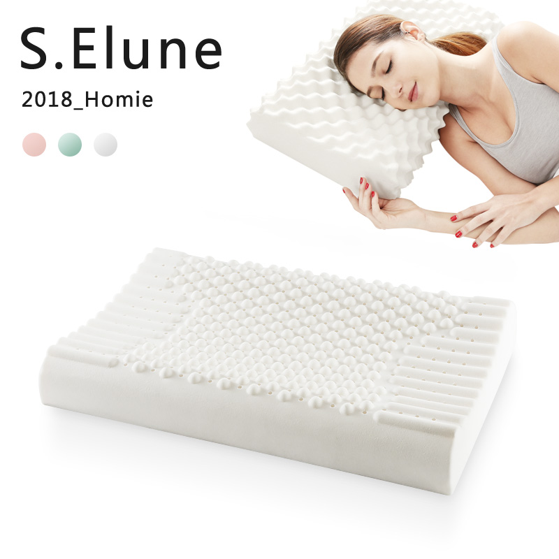 SElune Pure Natural latex thailand Remedial Neck sleep pillows Protect Vertebrae Health Care Orthopedic Bedding Cervical Pillow(China)