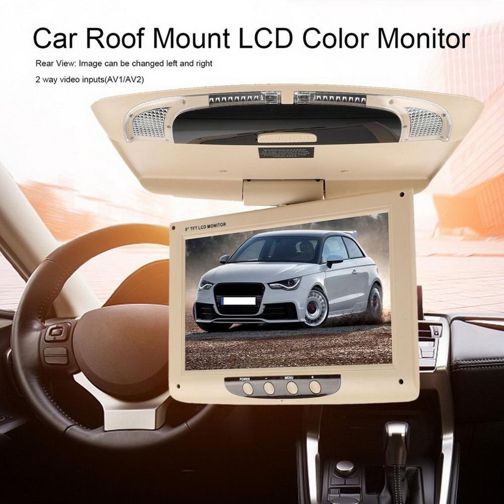Wide Voltage Reversing Image Display Car Ultra-Thin Ultra-Light 9 Inch High-Definition Car Ceiling Display