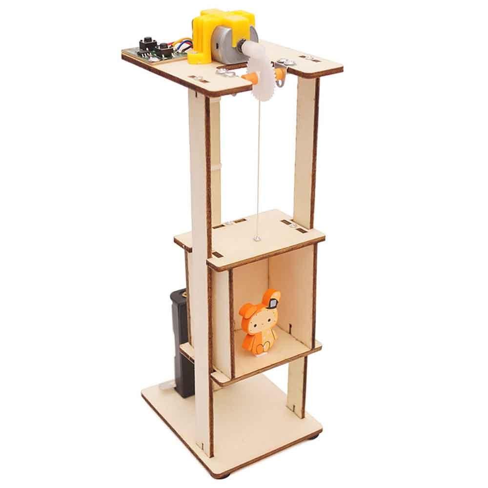 Подростков деревянный Лифт Функция принцип сборные игрушки Сделай Сам электрифицированный подъемник игрушки для детей научный эксперимен...