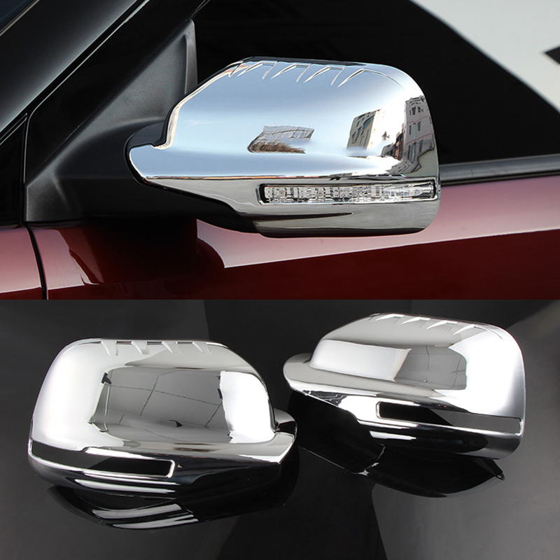 2pcs For <font><b>Ford</b></font> <font><b>Explorer</b></font> 2016-2018 ABS Chrome Auto Side Rearview <font><b>Mirror</b></font> Cover Trim Car Styling image