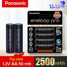 Panasonic Original 1.2V Pro AA 2500mAh NI-MH batterie pour caméra lampe de poche jouet télécommande Batteries rechargeables préchargées