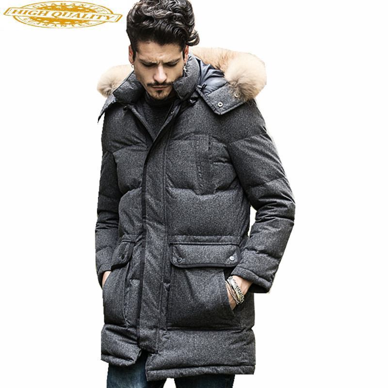 Exquisite Parkas Hombre Invierno 2019 Winter Male Coat White Duck Down Jacket Men Hooded Coats Black Mens Jackets WXF169