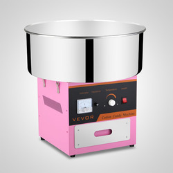 Candy Floss Maker 20.5 Inch Commercial Cotton Candy Machine Stainless Steel