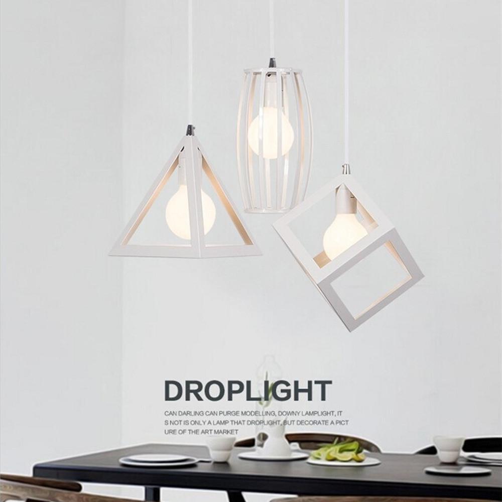 TWISTER.CK Geometrical White Iron Art Lampshade For Restaurant Lighting E27 110-220V (No Bulb) Stylish & Pretty Long Lasting