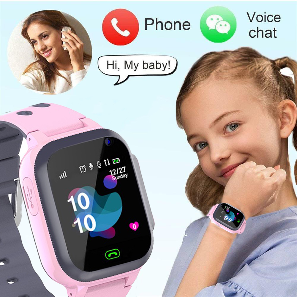 Kids Horloges Call Kinderen Slimme Horloge Voor Kinderen Sos Waterdichte Smartwatch Klok Sim-kaart Locatie Tracker Kind Horloge Jongen Meisjes 1