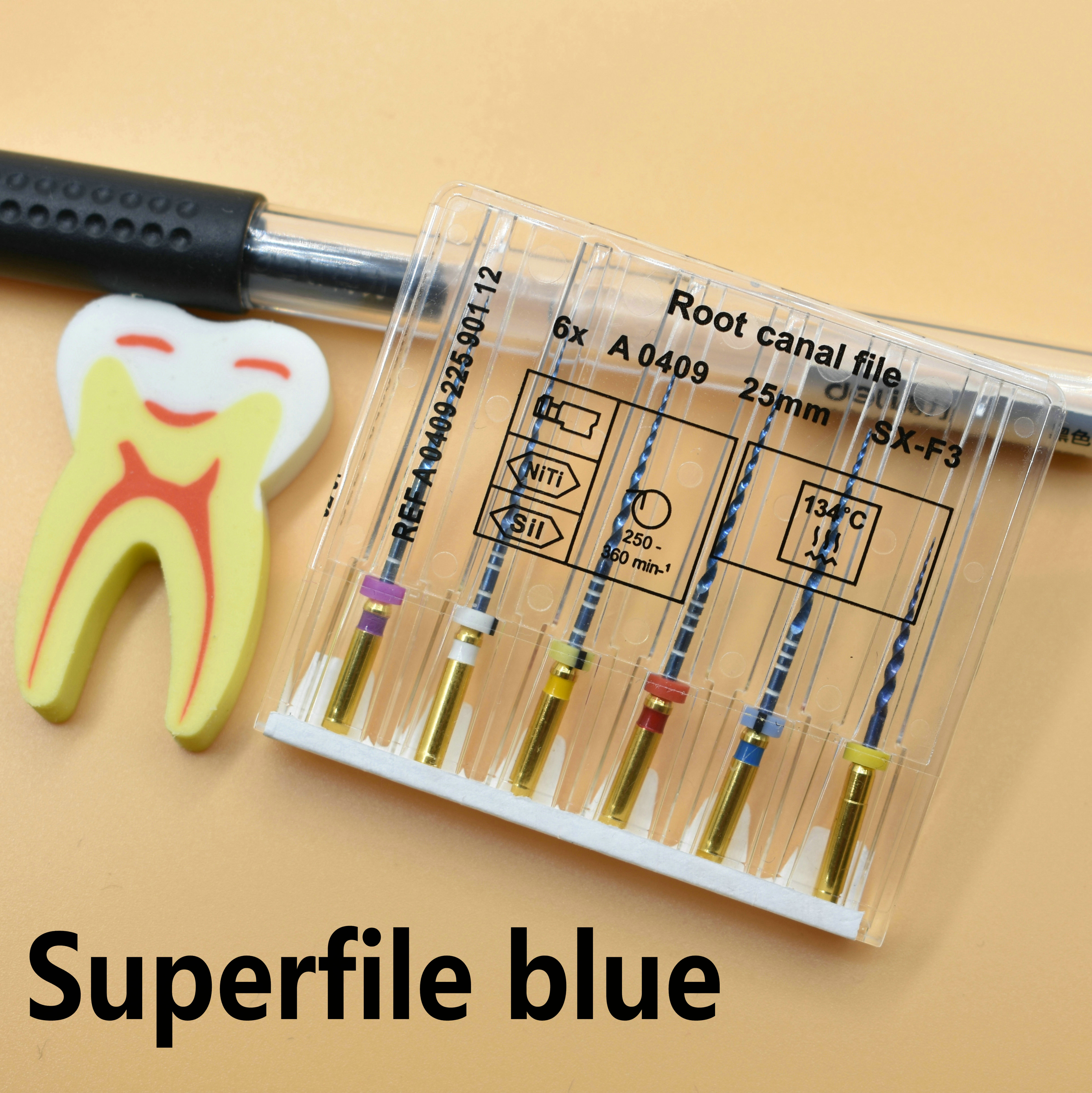 Dental Super Files Blue Flexible Files Endo Rotary   Endodontic Root Canal Files  Nickel Titainium Instrument SX-F3 Dentistry