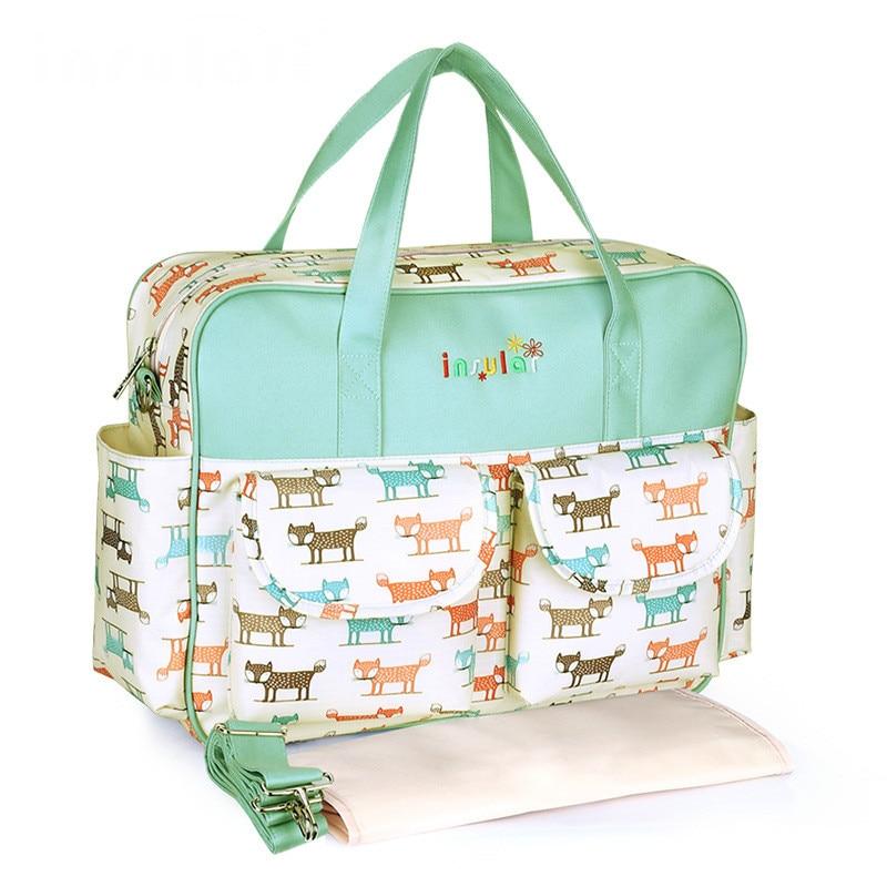 Portable Baby Bag Pregnant Women Messenger Mummy Bag Printed Diaper Bag For Mother Nappy Bag Internal And External Waterproof
