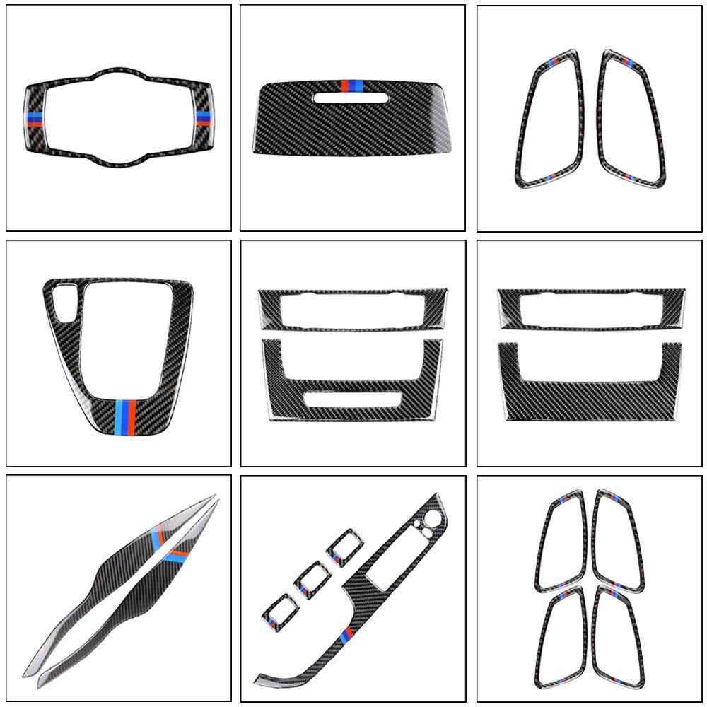 2PCS/Set True Carbon Fiber Headlight Eyebrow Eyelid Cover For BMW 3 Series E90 E91 2006 2007 2008 2009 2010 2011 Car Accessories