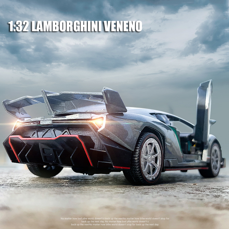 1:32 Scale Lamborghinis Veneno Alloy Car Model  Diecast Toy Vehicle High Simitation Cars Toys For Children Kids Xmas Gifts
