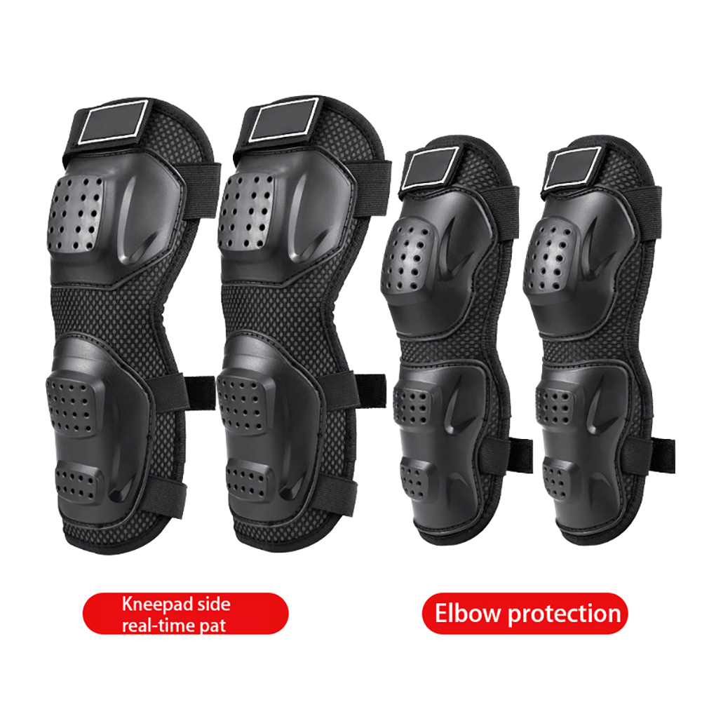 4pcs Motorcycle Elbow Protector Knee Pads Safety Protective Gear Cycling Knee Support Protection Universal