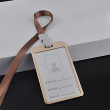 Aluminium Alloy Card Holder Employee Name ID Card Cover Metal Security Pass Tag Work Certificate Identity Badge ID Business Case cheap Metallic Unisex Solid BG190719 Hasp Dress 0 02kg Business Card Aluminum alloy