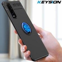 KEYSION Stoßfest Fall Für OPPO Finden X2 X2 Pro A9 A5 2020 A91 A31 A8 Magnetische Ring Telefon zurück abdeckung für Realme X50 Pro 6 Pro C3