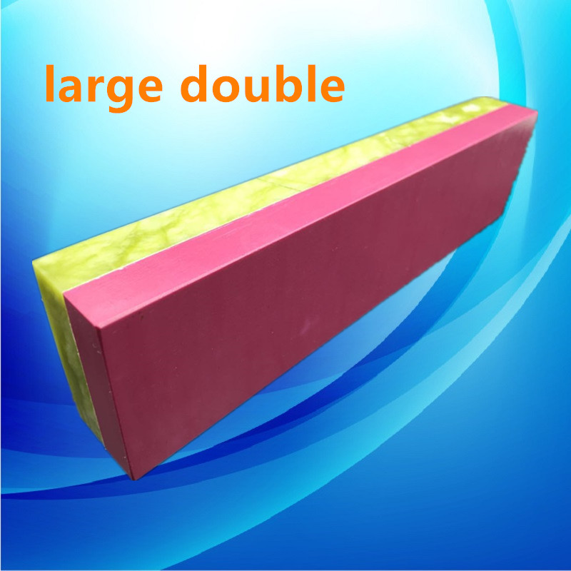 Double Sides Professional Natural Green Agate And Ruby Knife Sharpener Whetstone Sharpening Stones