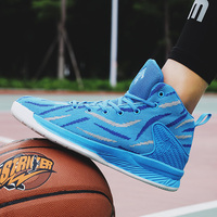 unisex New high top lightweight mens basketball female sneakers non slip women comfortable blue sports shoes trainers size 37 45
