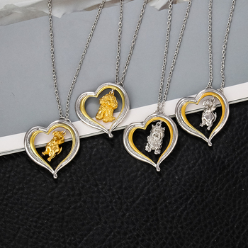 Dog Heart Necklace  5