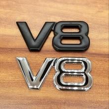 1pcs 3D metal V8 Car displacement stickers Badge emblem car styling for Toyota CROWN REIZ  LANDCRUISER PRADO  COASTER highlander trd carbon fiber 3d racing metal sticker car emblem badge decal for toyota crown reiz corolla camry vios car styling accessories