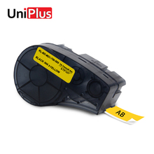 UniPlus 19.1mm Width LabelMaker M21-750-595-YL for Brady BMP21 Plus Idpal Labpal Compatible Label Tapes Stickers Black on Yellow